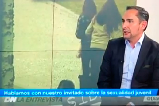 Mi compañero Jorge López en Telemadrid
